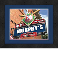 Boston Red Sox Personalized Pub Room Sign