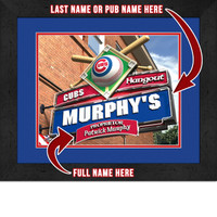 Chicago Cubs Personalized Pub Room Sign
