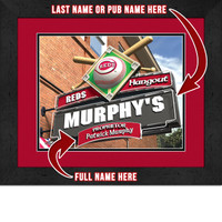 Cincinnati Reds Personalized Pub Room Sign