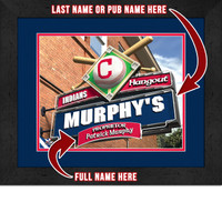 Cleveland Indians Personalized Pub Room Sign