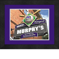 Colorado Rockies Personalized Pub Room Sign