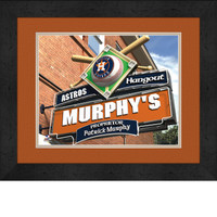 Houston Astros Personalized Pub Room Sign