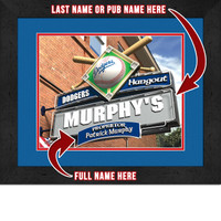 Los Angeles Dodgers Personalized Pub Room Sign