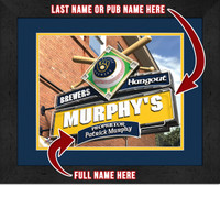 Milwaukee Brewers Personalized Pub Room Sign