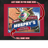 Philadelphia Phillies Personalized Pub Room Sign