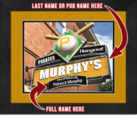 Pittsburgh Pirates Personalized Pub Room Sign