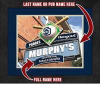 San Diego Padres Personalized Pub Room Sign