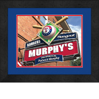 Texas Rangers Personalized Pub Room Sign