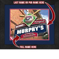 Washington Nationals Personalized Pub Room Sign