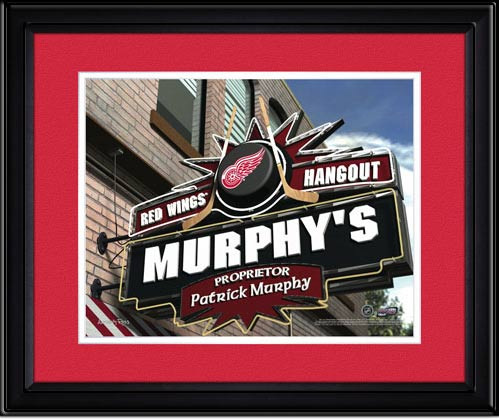 Detroit Red Wings Personalized Pub Room Sign