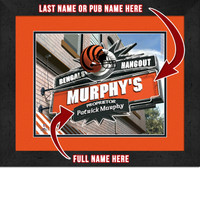 Cincinnati Bengals Personalized Pub Room Sign