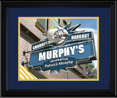 San Diego Chargers Personalized Pub Room Sign