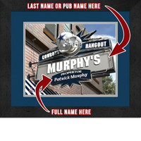 Dallas Cowboys Personalized Pub Room Sign