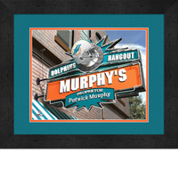 Miami Dolphins Personalized Pub Room Sign