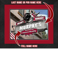 Atlanta Falcons Personalized Pub Room Sign