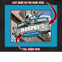Carolina Panthers Personalized Pub Room Sign