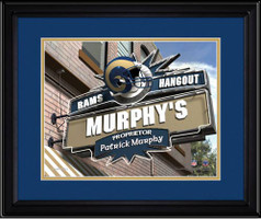 St. Louis Rams Personalized Pub Room Sign