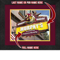 Washington Redskins Personalized Pub Room Sign
