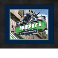 Seattle Seahawks Personalized Pub Room Sign