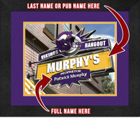 Minnesota Vikings Personalized Pub Room Sign