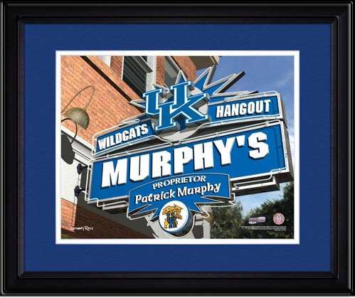 Kentucky Wildcats Personalized Fan Room Poster