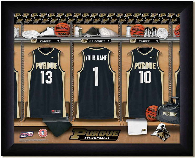 Purdue Basketball Personalized Locker Room Print