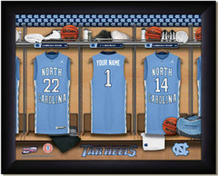 UNC Basketball Personalized Locker Room Print