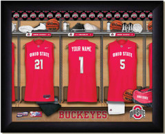 Ohio State Basketball Personalized Locker Room Print