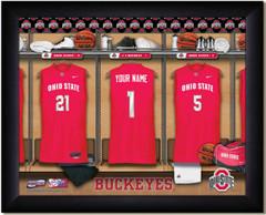 Ohio State Basketball Personalized Locker Room Print