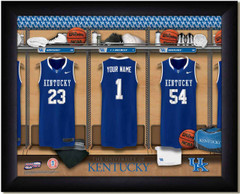 Kentucky Wildcat Basketball Personalized Locker Room Print