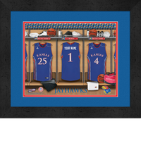 Kansas Jayhawks Basketball Personalized Locker Room Print