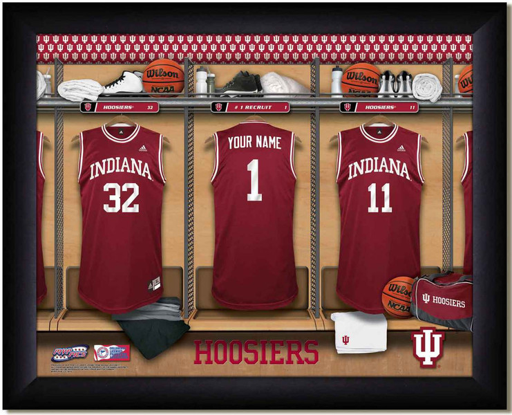 Indiana Hoosiers Basketball Personalized Locker Room Print