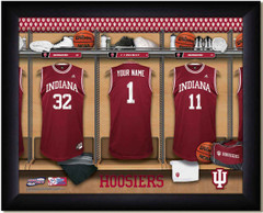 Indiana Hoosiers Basketball Personalized Locker Room Print