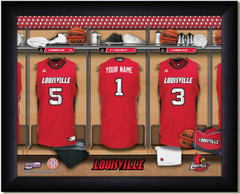 Louisville Cardinals Basketball Personalized Locker Room Print