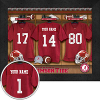 Alabama Crimson Tide Personalized Locker Room Print