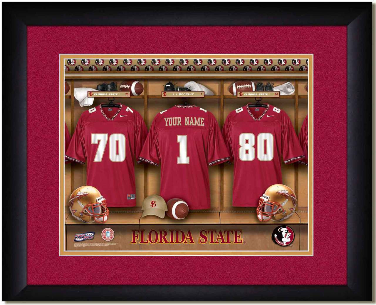 ce47075ecbf Florida State Seminoles Personalized Locker Room Poster