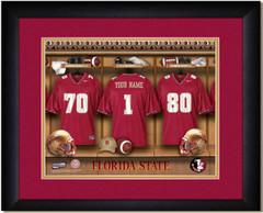 Florida State Seminoles Personalized Locker Room Print