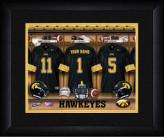 Iowa Hawkeyes Personalized Locker Room Print