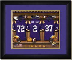 LSU Tigers Personalized Locker Room Print
