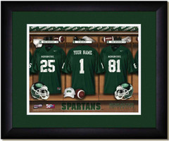 Michigan State Spartans Personalized Locker Room Print