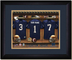 Notre Dame Personalized Locker Room Print