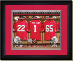Ohio State football Personalized Locker Room Print