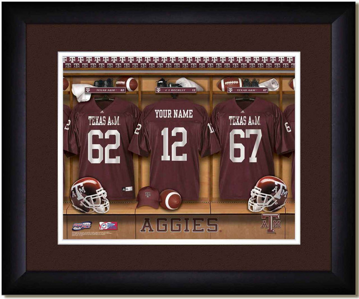 Texas A Amp M Aggies Personalized Locker Room Print