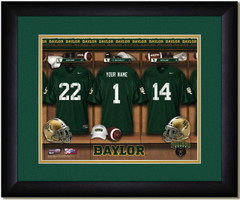 Baylor University Personalized Locker Room Print