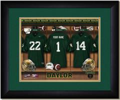 Baylor University Personalized Locker Room Print