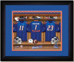 Boise State Broncos Personalized Locker Room Print