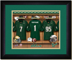 USF Bulls Personalized Locker Room Print