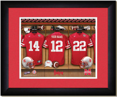 Nebraska Huskers Personalized Locker Room Print