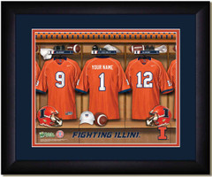 Illinois Illini Personalized Locker Room Print