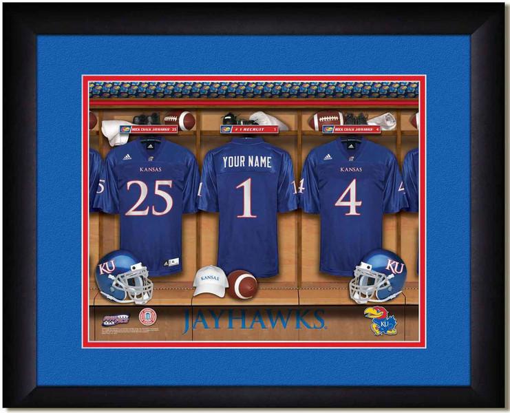 Kansas Jayhawks Personalized Locker Room Print